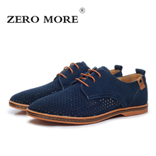 ZERO MORE Mens Shoes Formal Dress Cow Suede Cut Outs Casual