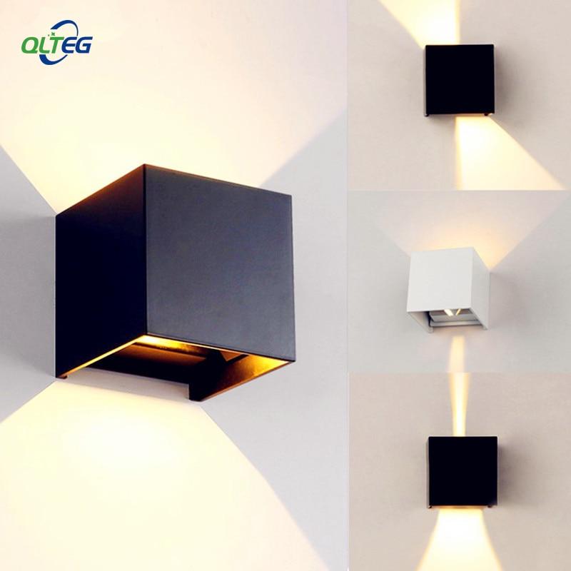 qlteg 6 w 12 conduziu a luz da parede ao ar livre ip65 impermeavel estilo nordico