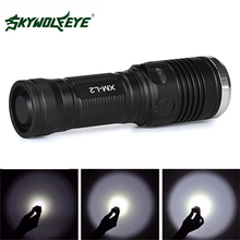 SKYWOLFEYE L207 1000LM L2 T6 LED Flashlight Zoomable Waterproof 4 Mode LED Flash Light Torch Lamp for Outdoor Camping Hiking