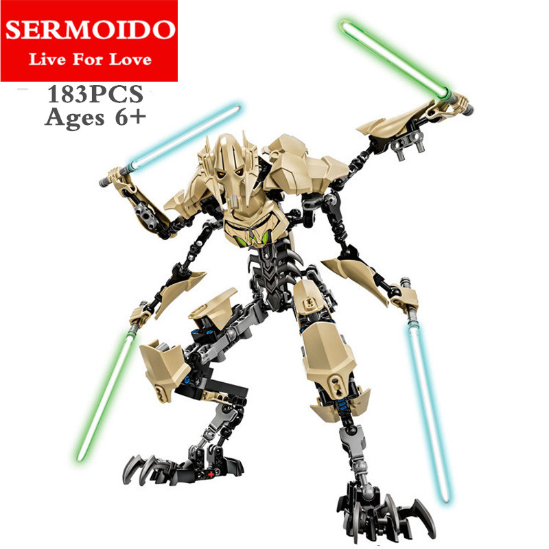 Star Wars Darth Vader White Storm Trooper General Grievous Doll Toys Building Blocks Compatible lepine Toys For Children B129 storm 47227 b