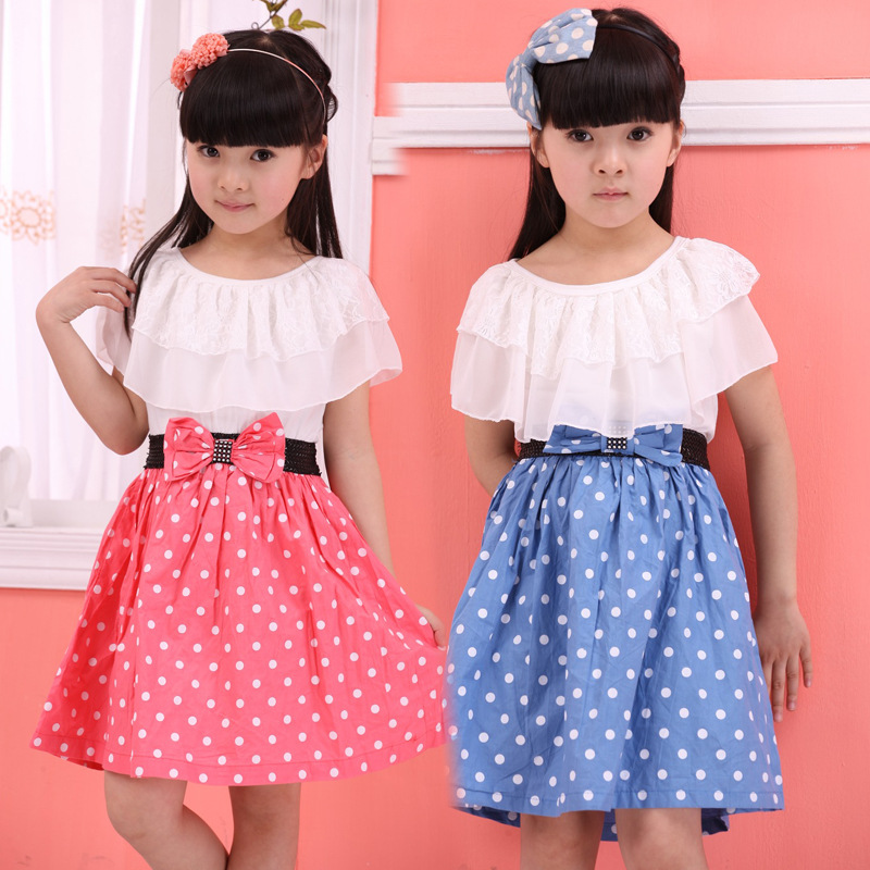 Подробнее о New Fashion Girl dress children clothing kids dress for girls dresses toddler girl clothes party princess Bow wave point dress 2017 new spring girls princess dress brand toddler dress baby girl clothes children party dresses 10 years old kids clothing red