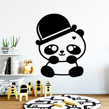 Diy panda Vinyl Self Adhesive Wallpaper For Kids Room Decoration Waterproof Wall Art Decal free shipping dancing self adhesive vinyl waterproof wall decal for kids room decoration waterproof wall art decal naklejki