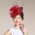 Mulheres Grande Flor Chapéu De Penas De Casamento Menina Encantadora Forma Moda Headpiece Sinamay Fascinators com Design Especial
