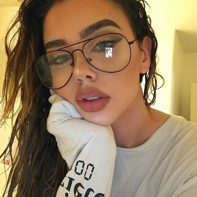 Luxury Brand Designer Aviation Big Frame Women Men Eye Glasses ...