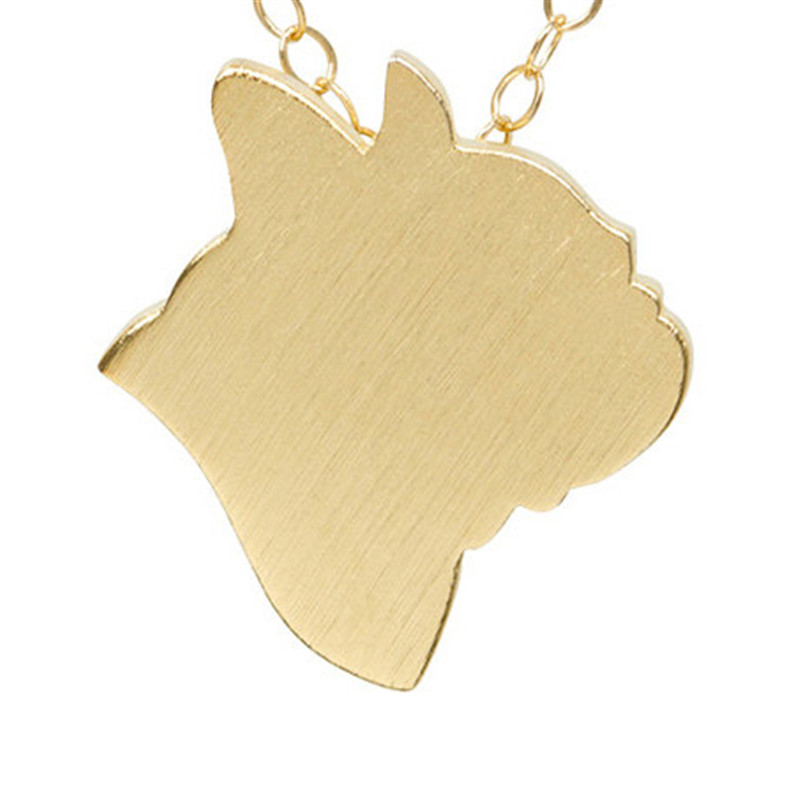 Fashion Jewelry Animal French Bulldog Discontinued Necklace Choker Pet Dog Frenchie Charm Pendant Long Necklaces For Pet Lovers