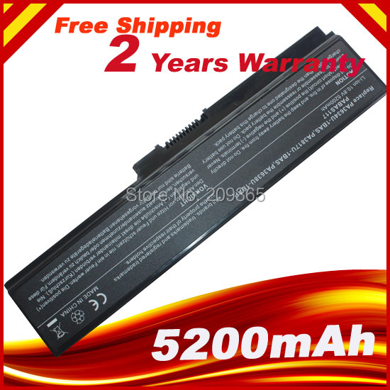 Haute qualité portable batterie pour Toshiba Satellite PA3634U C650 C655 C655D C660 C670 pa3817u - 1brs pa3817u - 1brs