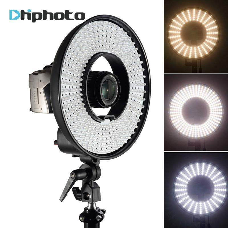 Photographie DVR-300DVC Dimmable LED Anneau Selfie Vidéo Lumière Caméra Photo Studio Anneau Continu Lampe pour Canon Nikon Appareil Photo REFLEX NUMÉRIQUE
