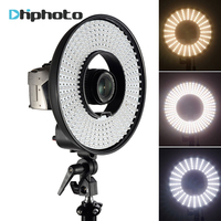 Photography DVR 300DVC Dimmable LED Ring Selfie Video Light Camera Photo Studio Continuous Ring Lamp for Canon Nikon DSLR Camera