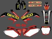 Новый стиль ( 0091 ) команда графика и знаки наклейки наборы для Honda CRF450 2005 — 2006