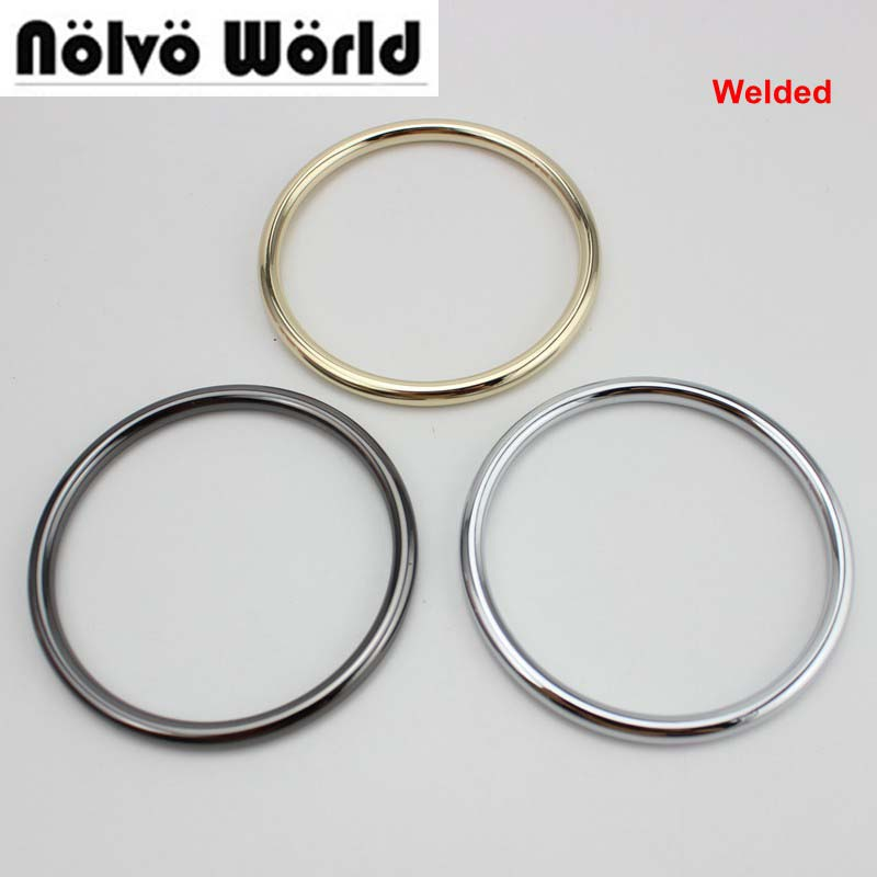 20pcs welded o rings 78mm 96mm inside for strap ring bags  bags handle Pants Connect handmade alloy metal high quality 10pcs lot 9x5x2 mm o rings rubber sealing o ring 9mm od x 2mm cs