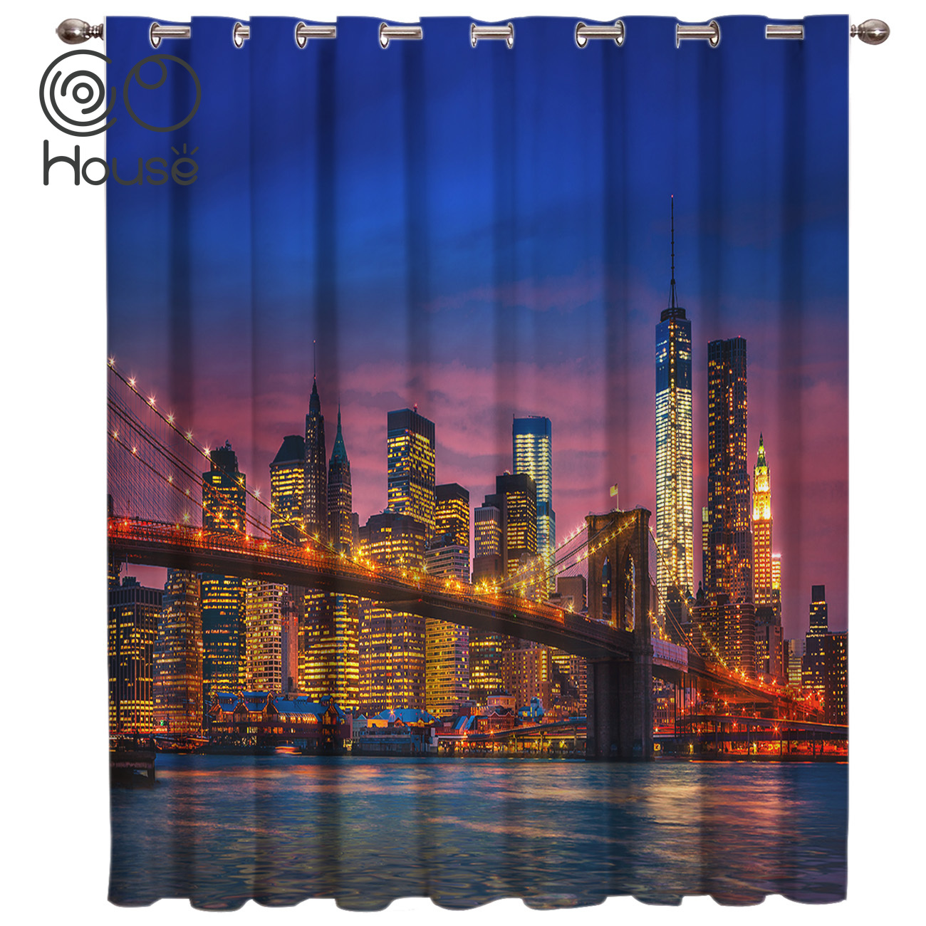 COCOHouse Brooklyn Window Treatments Curtains Valance Living Room Blackout Bathroom Kids Window Treatment Hardware Sets Curtains