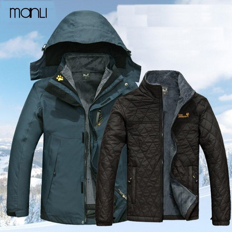 Veste imperméable en polaire intérieure d'hiver pour hommes 3 en 1 veste de Sport pour femmes en plein air manteau de marque chaude randonnée Camping Trekking vestes de ski