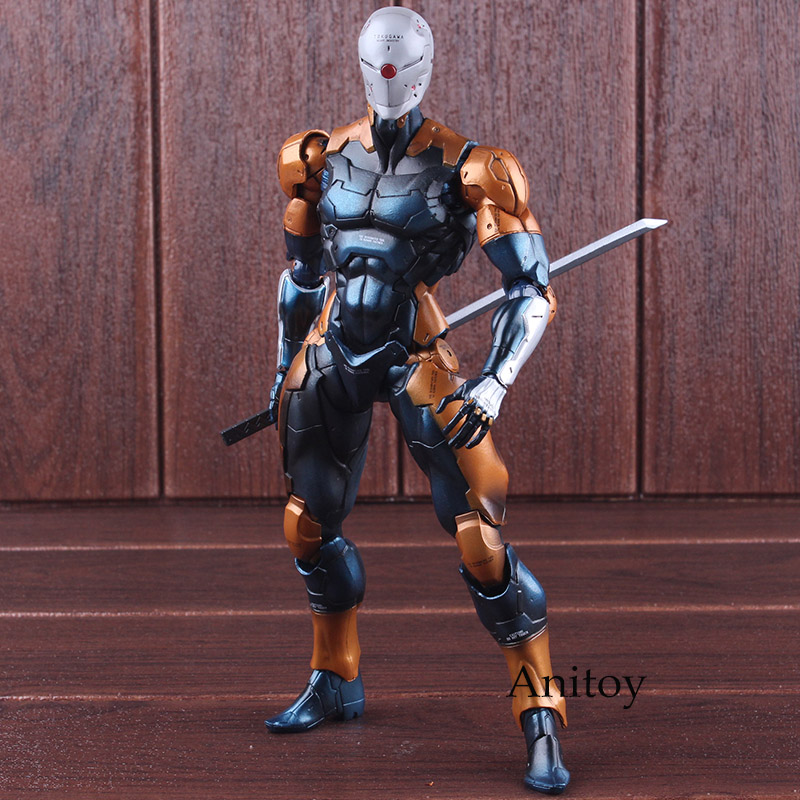 Play Arts Kai Figure Metal Gear Solid Cyborg Ninja Gray Fox PVC Tactical Espionage Actions Figure Collectible Model Toy 26cm play arts kai metal gear solid cyborg ninja gray fox game pvc action figure resin collection model toy gifts