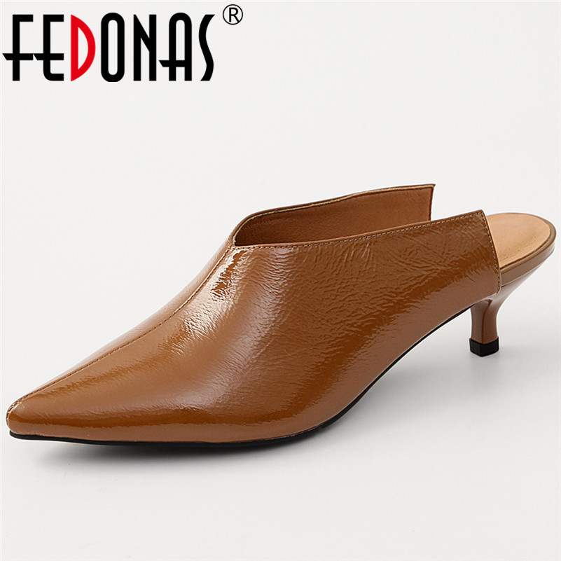 FEDONAS New Sexy Slingbacks Pumps High Heels Pointed Toe Mules Shoes Woman Retro Elegant Party Prom Pumps Ladies Sexy Shoes WomaFEDONAS New Sexy Slingbacks Pumps High Heels Pointed Toe Mules Shoes Woman Retro Elegant Party Prom Pumps Ladies Sexy Shoes Woma