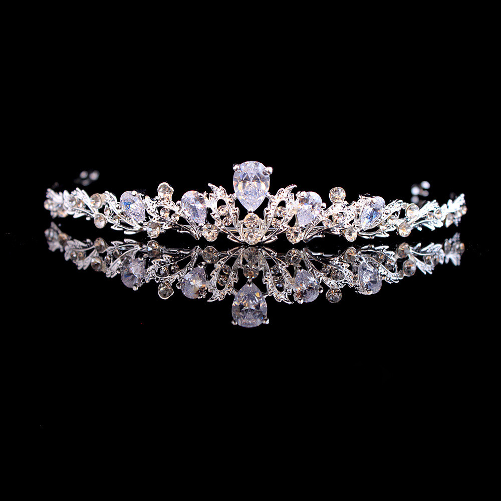 Cute Crystal Bling Bling Bridal Tiara Crown For Women Prom Diadem Hair Ornaments Wedding Bride Headband Jewelry Accessories
