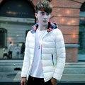 Casual hombres calientes Chaquetas con capucha delgada transpirable Chaqueta de Invierno Para Hombre outwear parka Ligera Más tamaño 5XL hombre jaqueta