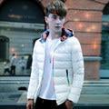 Homens casuais Jaqueta De Inverno Dos Homens outwear Casaco quente Casacos com capuz fino respirável Leve jaqueta parka Plus Size 5XL hombre