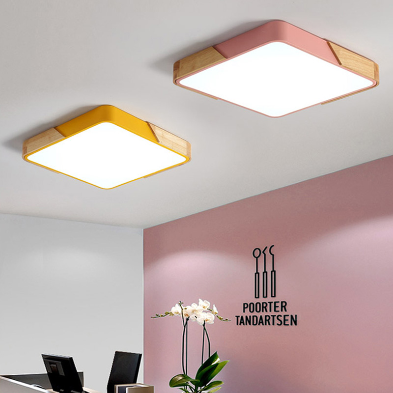Nordic ceiling lamp solid wood creative living room lamp simple modern atmosphere household ultra-thin led bedroom light цена
