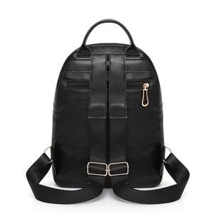 Image 4 - 2019 Kadın Deri kızlar için sırt çantaları Kese Dos Mochilas Seyahat Rahat Daypacks okul sırt çantası Kadın Vintage Sırt Çantası Bayanlar