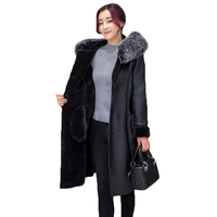 2XL 7XL Plus Sizes Winter Leather Jacket Coat Women S 2018 High Quality Winter Jackets Womens
