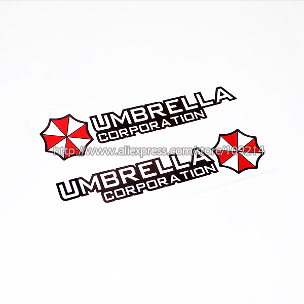 Prix pour Vente chaude Umbrella Corporation Une Moto SUV Auto Decal Sticker Étanche M19