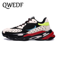 QWEDF 2019 Summer Men Vulcanized Shoes Breathable Trend Platforms Male Thick Bottom Rubber Footwears Comfort Sneakers GA 49