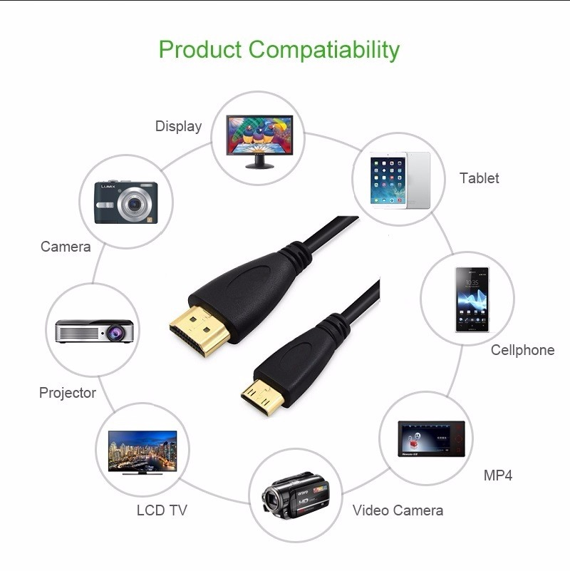 0-5m-1M-1-5m-2M-3M-5M-High-speed-Gold-Plated-HDMI-TO-MINI-HDMI