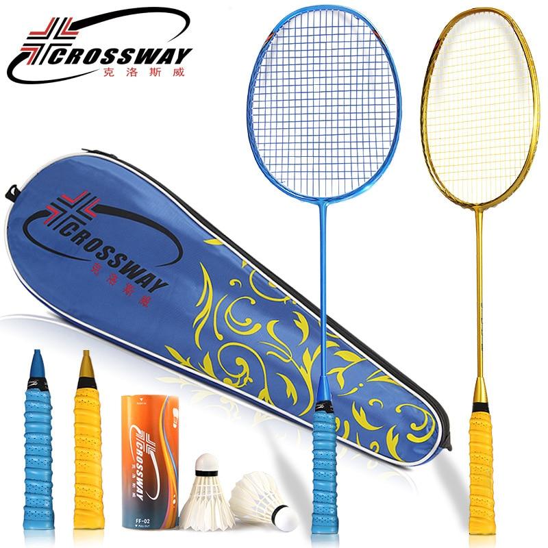 CROSSWAY 1pc 4U Badminton Rackets Professional Intermediate Senior High Quality Badminton Sports Single Racket fitness aids SK88