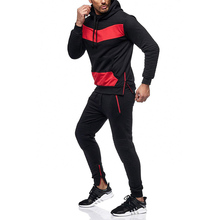 Men Two Pieces Set Fashion Hooded Sweatshirts Sportswear Tracksuit Hoodie spring Plus size Clothes Hoodies+Pants Sets