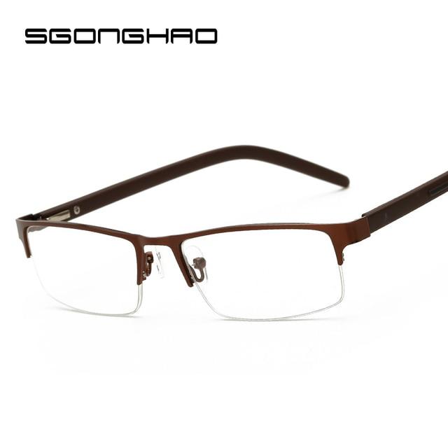 SGONGHAO Square Frame Reading Glasses Hyperopia Eyeglasses Men Women Diopter Glasses Presbyopic Eyeglasses +1.0+1.5+2.0+3.0+4.0