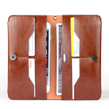 MyGeek Leather Wallet Case Magnet Clasp Flip Cell Phone Cover For iPhone 5s 6 Plus Samsung  Huawei CellPhone Vintage Flip Cover