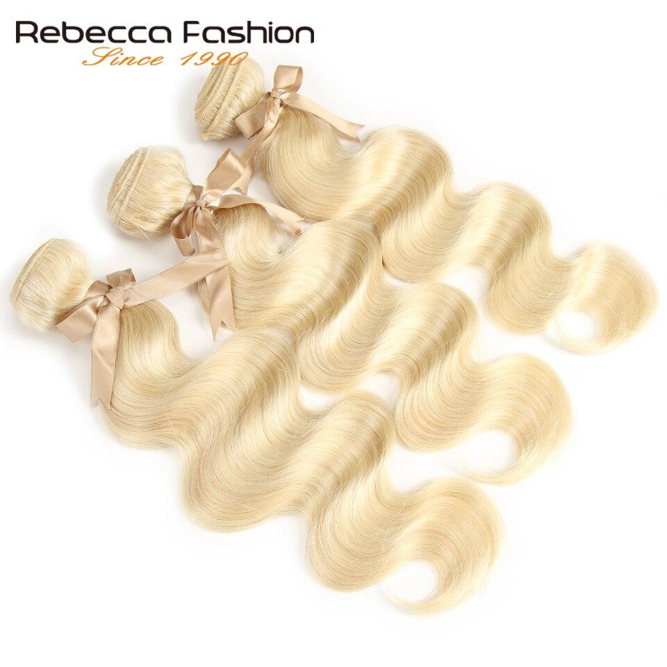 Image 4 - Rebecca 613 Honey Blonde Bundles Body Wave Brazilian Hair Weave Bundles 100% Remy Hair Extensions 1/3/4 Bundles 10 to 26 Inches-in Hair Weaves from Hair Extensions & Wigs