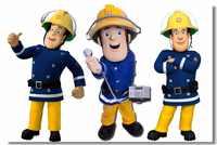 Пользовательские холст настенные наклейки Пожарный Сэм плакат Пожарный Сэм обои детская комната настенные наклейки украшение для столово...