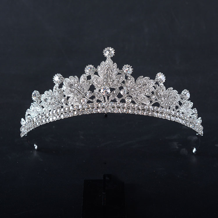 Crystal Crown Luxury Handmade Rhinestone Tiara Bridal Pageant Prom Pearl Elegant