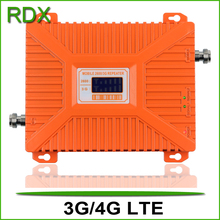 High quality lcd display dual band 3g wcdma 4g 2600mhz lte cellphone repeater 70dB mobile phone booster amplifier on sale