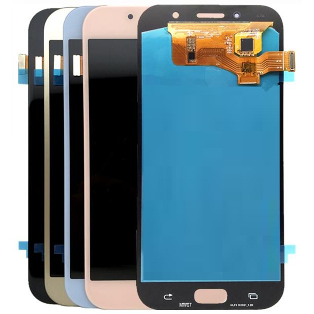 For <font><b>Samsung</b></font> Galaxy A7 2017 A720 <font><b>A720F</b></font> LCD <font><b>Screen</b></font> and Digitizer Assembly Replacement!!(Black/White/Gold/Pink) image
