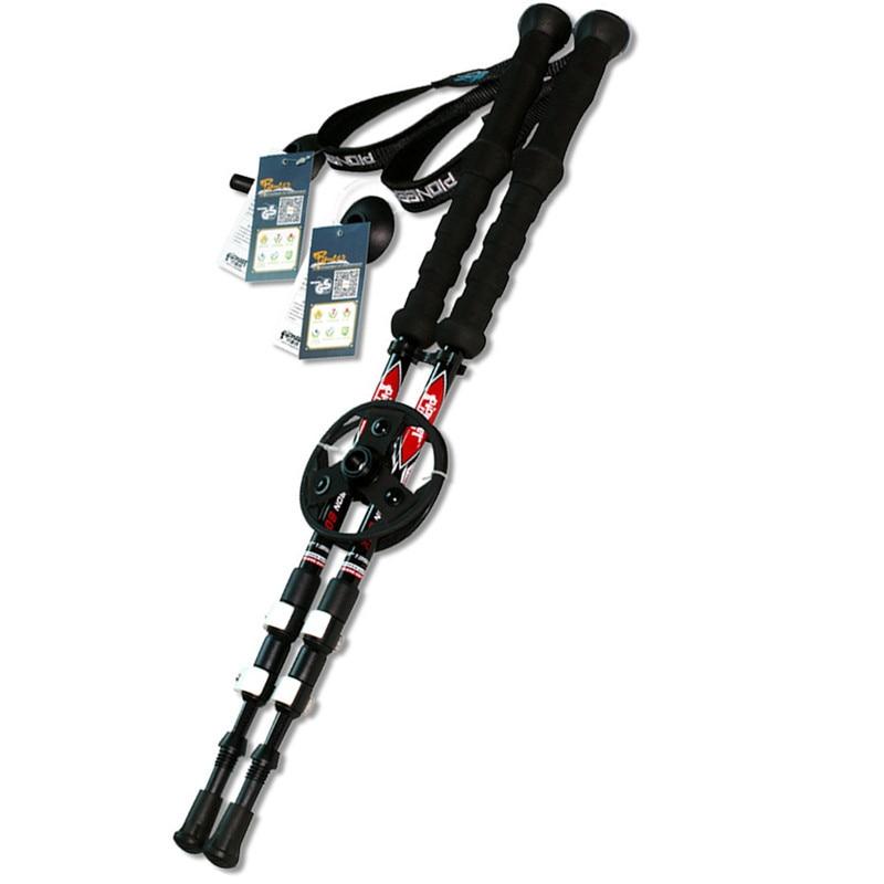 2 pcs/lot 195g/pc Carbon fiber Alpenstock External quick lock <font><b>Trekking</b></font> <font><b>poles</b></font> hike telescope <font><b>stick</b></font> Nordic walking <font><b>stick</b></font>