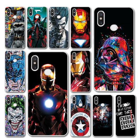 Captain America Phone Case For Xiaomi Redmi Note 7 Silicone Bumper Note 5 Global Version Novelty Cover 6 For Redmi note 7 pro Pakistan