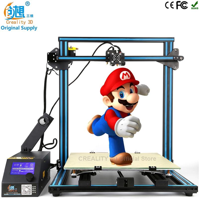 3 D Printer CREALITY 3D CR-10 Print 500*500*500mm Reprap Prusa i3 Printer DIY Kit metal impressora 3d Filament cheap 3d printers