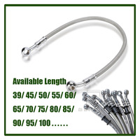 Universal Motorcycle Brake Oil Hose Line Pipe Hydraulic Reinforced Stainless Steel Braided Fit ATV Dirt Pit