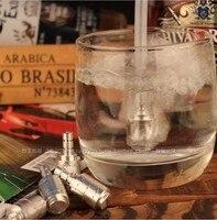 040404 accessori di fumo crylic narghilè filtro pentola di metallo silenziatore