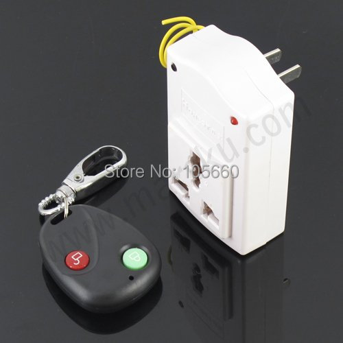 INHIDA Wireless Remote Control + US AC Power Socket 220V  Free shipping