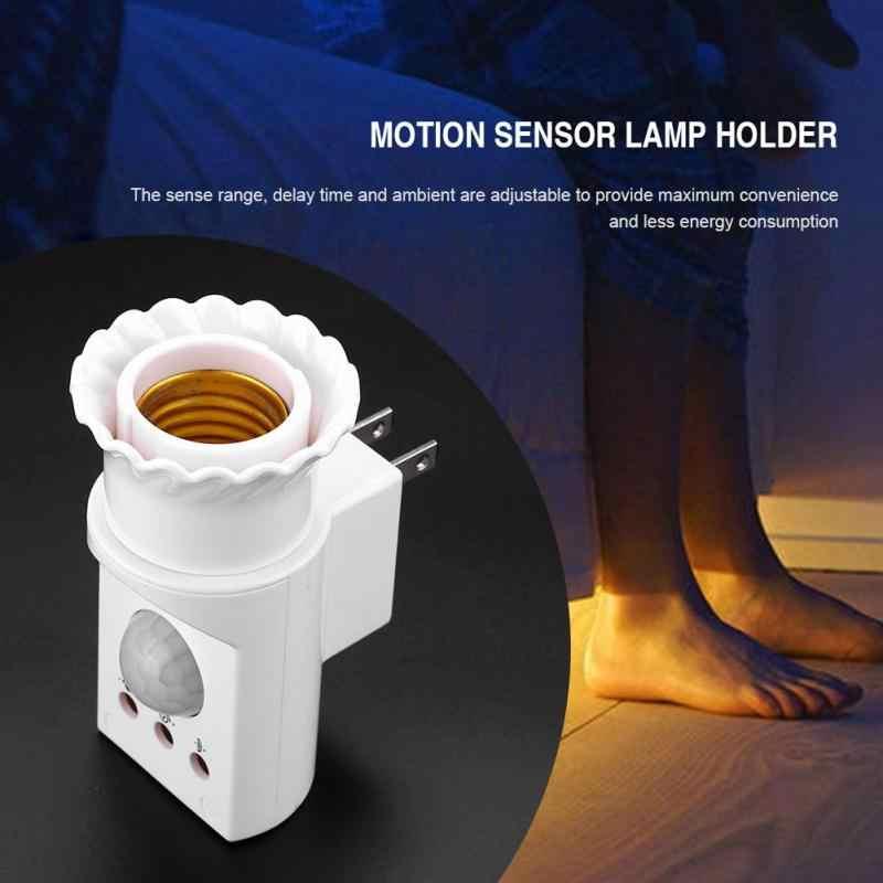 E27 Socket Body Infrared PIR Motion Sensor Lamp Holder Adjustable Lamp Bulb Holder Light Socket Base AC 110-250V soquete e27