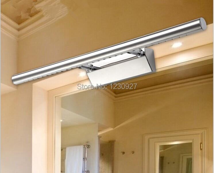9w 39 LED 5050 70cm mirror front headlight stainless steel bathroom toilet anti fog lens ark bedroom lamp,led wall lamp