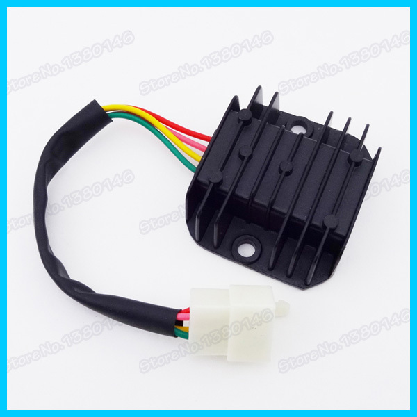 4 Wire Male Plug Voltage Regulator Rectifier For GY6 Moped Scooter Motorcycle ATV Quad Dirt Bike aliexpress com buy 4 wire male plug voltage regulator rectifier motorcycle voltage regulator wiring diagram at cos-gaming.co