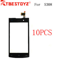 RTBESTOYZ 10PCS/LOT Hot Sale Touch Screen Panel Front Glass For Philips S308 S301 Sensor Mobile Phone Glass Replacement