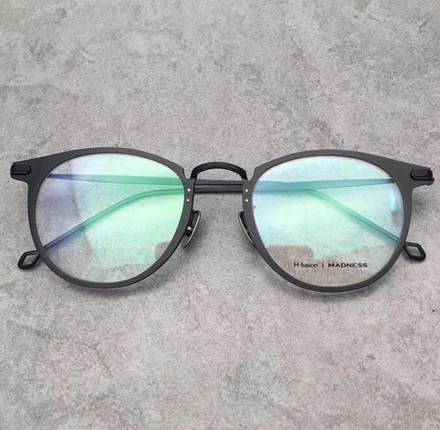 Vintage H. fusion merek optik kacamata bingkai resep titanium putaran bingkai  kacamata bingkai Oculos De 2331908e75