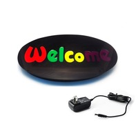 43 X 23cm Can Be Customized Welcome EPOXY Open LED Light Sign Blink On Off Switch