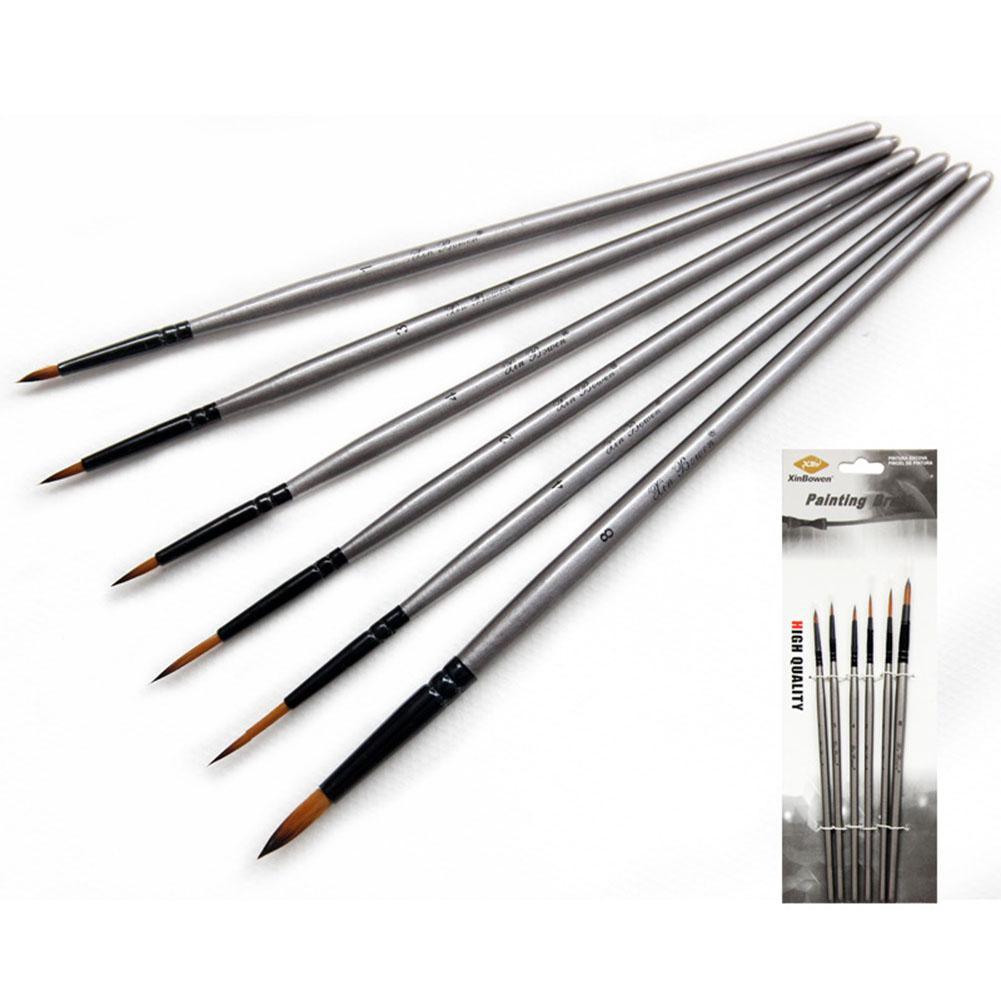6pcs/set Nylon Delineating Line Pen Professional Painting Brush