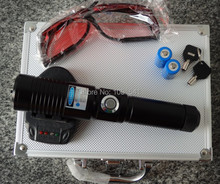 Discount! power military blue laser pointers 30000mw 30w 450nm burning match/dry wood/candle/black/burn cigarettes+glasses+gift box